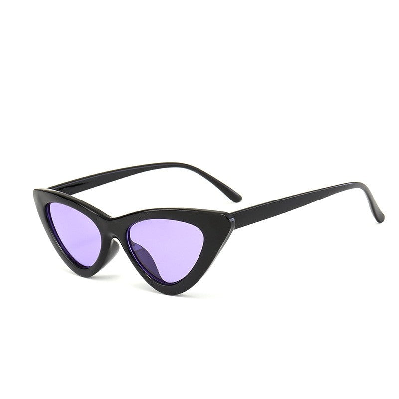 Small Frame Unisex Cat Eye Sunglasses Multiple Colors - Slappable Shades