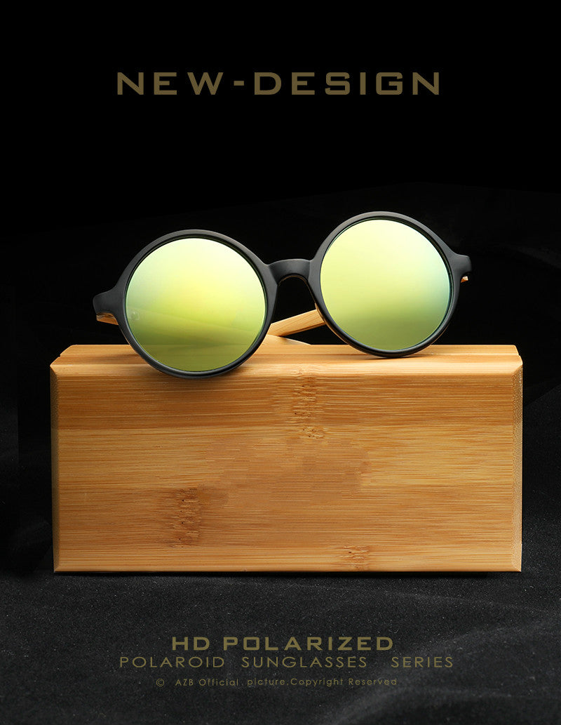 d029aed61d BRAND NEW Exotic Round Bamboo Wooden Sunglasses