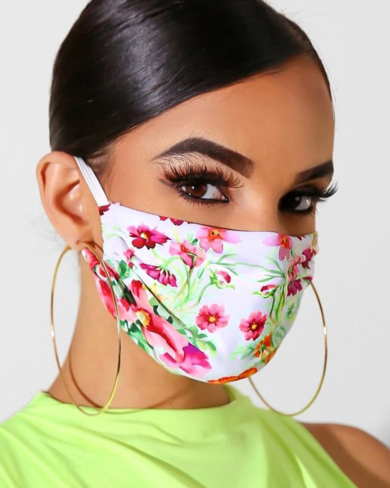Floral Print Breathable Mouth M .a. s. k Washable And Reusable