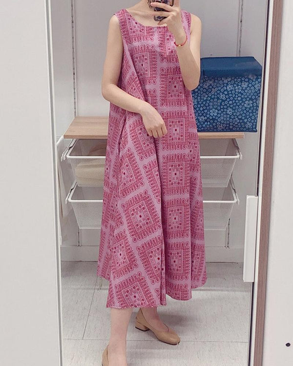 Carpet Print Tank Maxi Dress