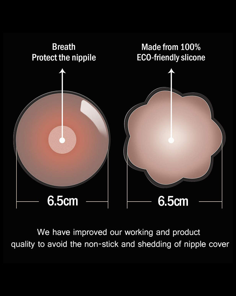 2PCS Nippleless Covers Breast Lift Reusable Breast Pasties Petals