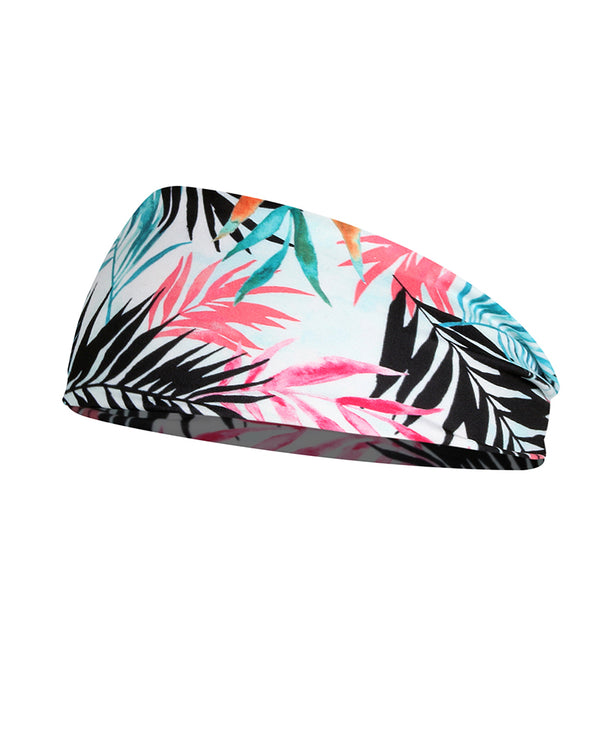 Plant Print Yoga Elastic Headwraps Head Wrap Hair Band