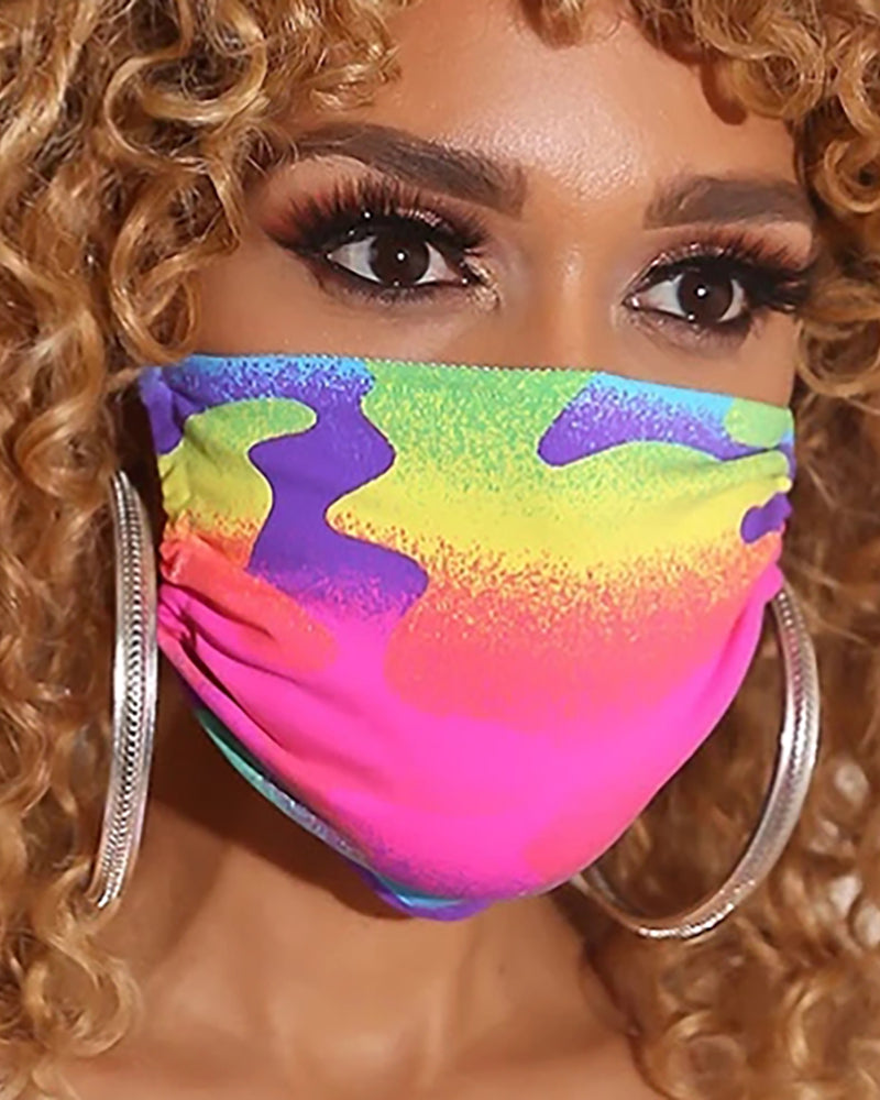 Colorblock Breathable Mouth Mask Washable And Reusable