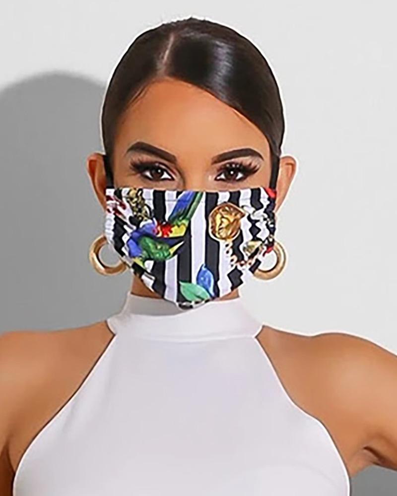 Aniaml Print Breathable Mouth M .a. s. k Washable And Reusable