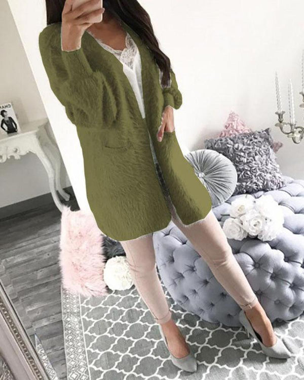 Cardigan long Sleeve Casual Loosen Knitted Sweater Jumper Coat Jacket