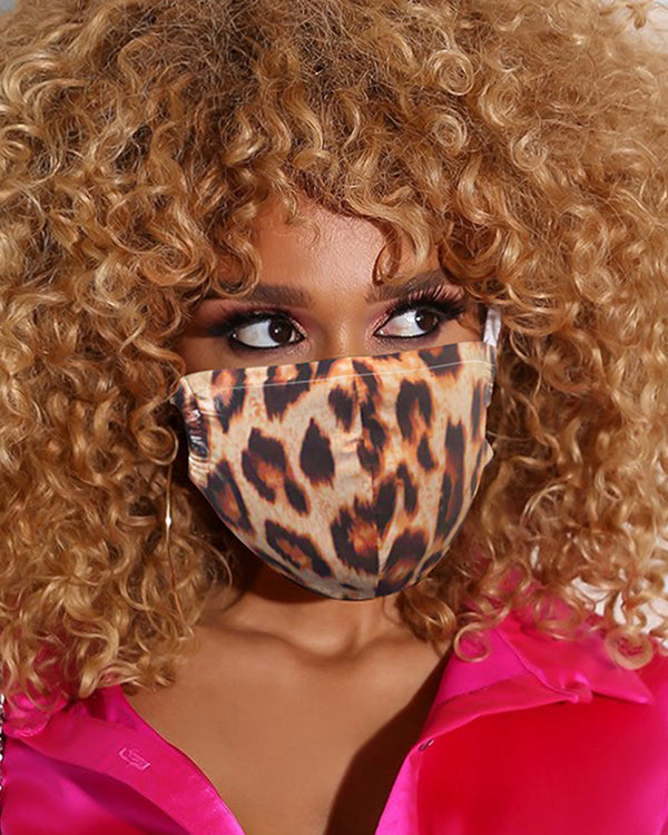 Leopard Print Breathable Mouth M .a. s. k Washable And Reusable