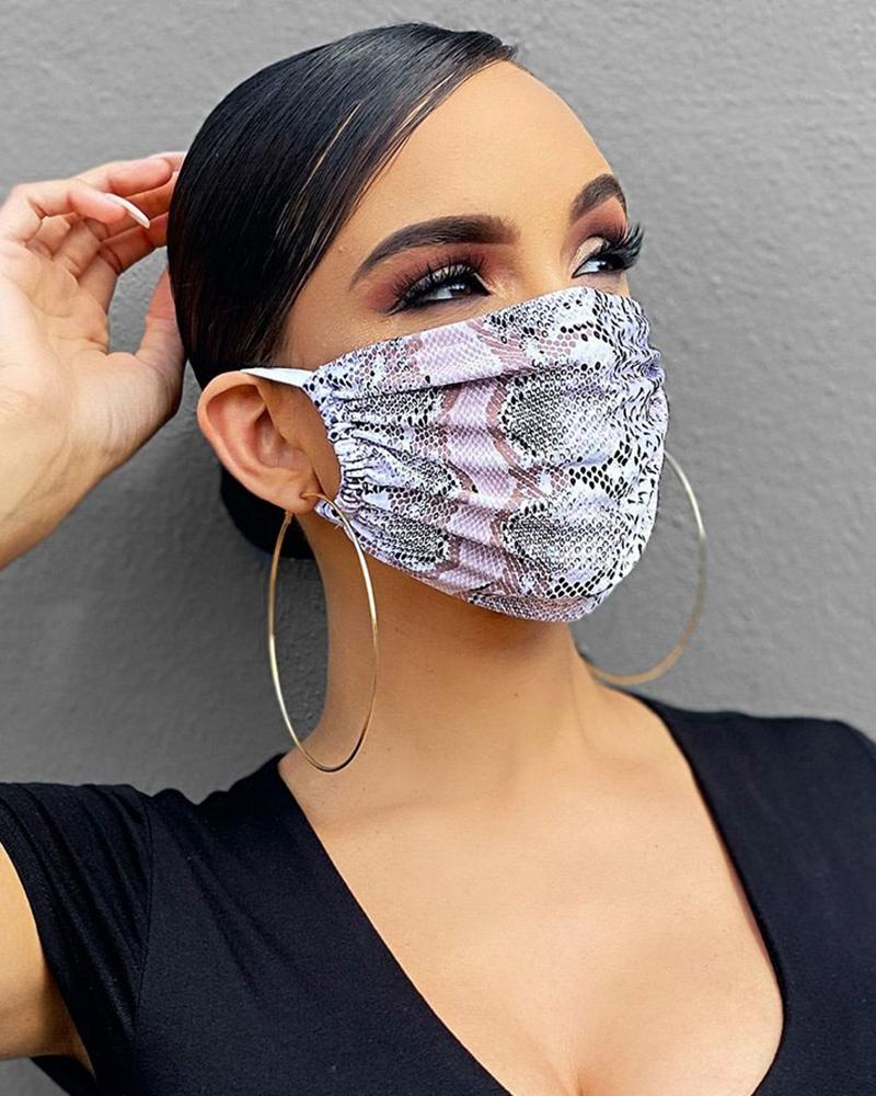 Snakeskin Breathable Mouth M .a. s. k Washable And Reusable