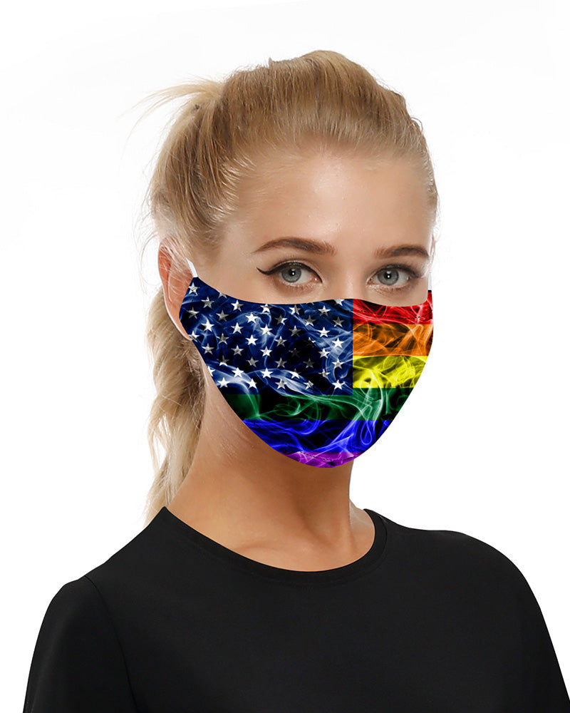 Stars Print Mouth Mask Breathable Washable And Reusable With Replaceable Filter