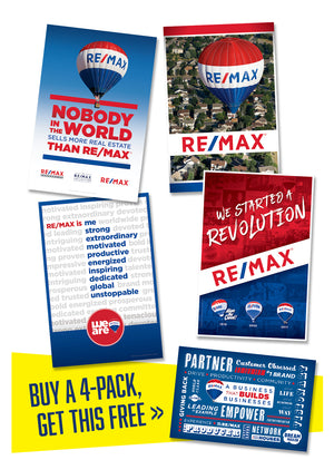 RE/MAX ASSORTED POSTER PACK (x4 PACK) POSTER + ONE FREE POSTER