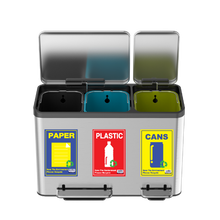 Load image into Gallery viewer, EKO Ecocasa recycle step on bin with recycle sticker