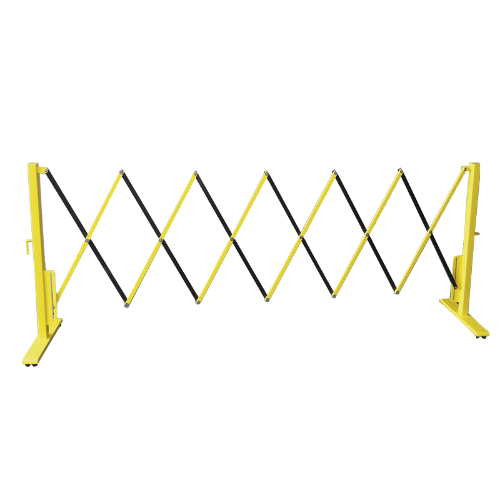 Yellow & Black Aluminium Retractable Barricades