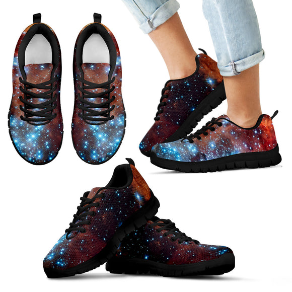 Blue Star Nebula Kid's Sneakers