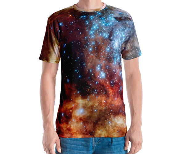 Blue Star Cluster Nebula Series Men's T-shirt