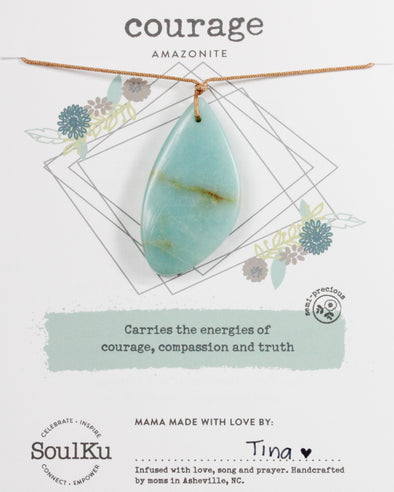 Amazonite Touchstone Necklace for Courage