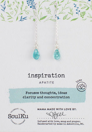 Apatite Gemstone Fairy Threader Earrings for Inspiration