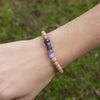 "Amethyst Gemstone ""Be Well"" Be Your Own Hero Bracelet"