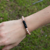 "Black Onyx Gemstone ""Be Strong"" Be Your Own Hero Bracelet"