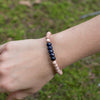 Blue Goldstone Be Your Own Hero Bracelet for Be Comforted