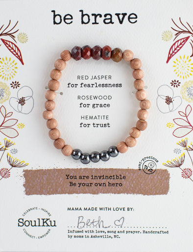 Red Jasper Be Your Own Hero Bracelet for Be Brave
