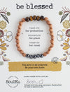 "Tigers Eye Gemstone ""Be Blessed"" Be Your Own Hero Bracelet"