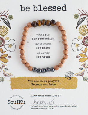 Tiger Eye Be Your Own Hero Bracelet for Be Blessed