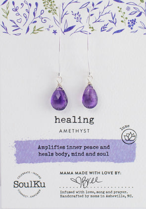 Amethyst Luxe Earrings for Healing