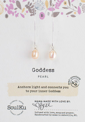 Pearl Soul-Full of Light Long Earrings for Goddess