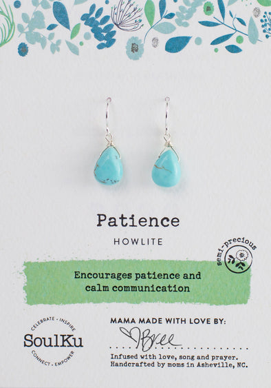 Howlite Gemstone Soul-Full of LIGHT Earrings for Patience