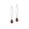 Brown Goldstone Gemstone Soul-Full of LIGHT Long Earrings for Ambition