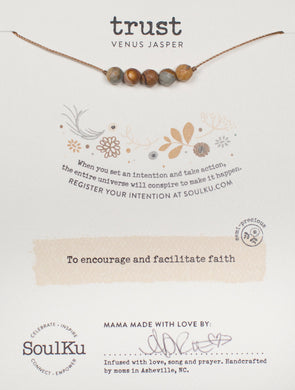 Venus Jasper Intention Necklace for Trust