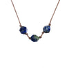 Gemini ZODIAC Necklace with Azurite Gemstones | 5/21 - 6/20