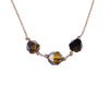 Capricorn ZODIAC Necklace with Tiger Eye Gemstones | 12/22 - 1/19