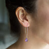 Amethyst Gemstone Soul-Full of LOVE Earrings for Healing