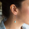 Howlite Gemstone Soul-Full of LIGHT Long Earrings for Patience