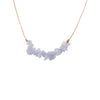 Blue Lace Agate Gemstone SEED Necklace for Confidence