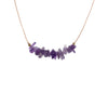 Amethyst Gemstone SEED Necklace for Healing