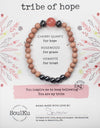Cherry Quartz Gemstone TRIBE of Hope Bracelet