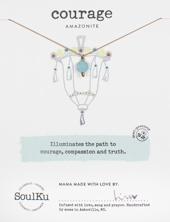 Amazonite Lantern Necklace for Courage