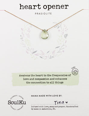Prasiolite Luxe Necklace for Heart Opener