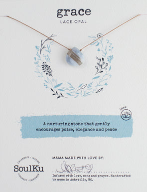 Lace Opal Gemstone Soul-Full of LOVE Necklace for Grace
