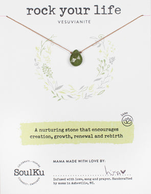 Vesuvianite Gemstone Soul-Full of LOVE Necklace for Rock your Life