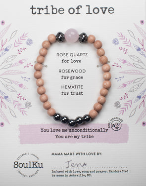 Rose Quartz Bracelet for Tribe of Love