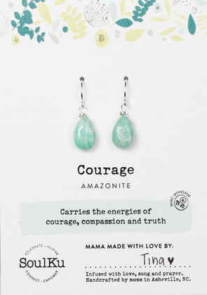Amazonite Soul-Full of Light Earrings for Courage