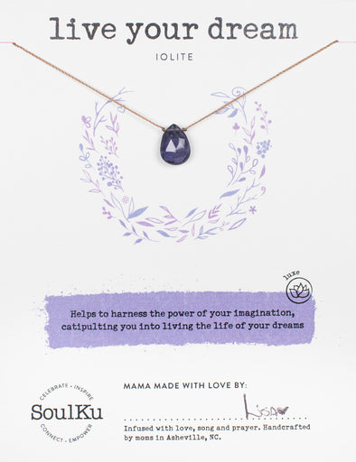 Iolite Luxe Necklace for Live Your Dream