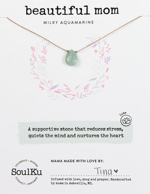 Milky Aquamarine Luxe Necklace for Beautiful Mom