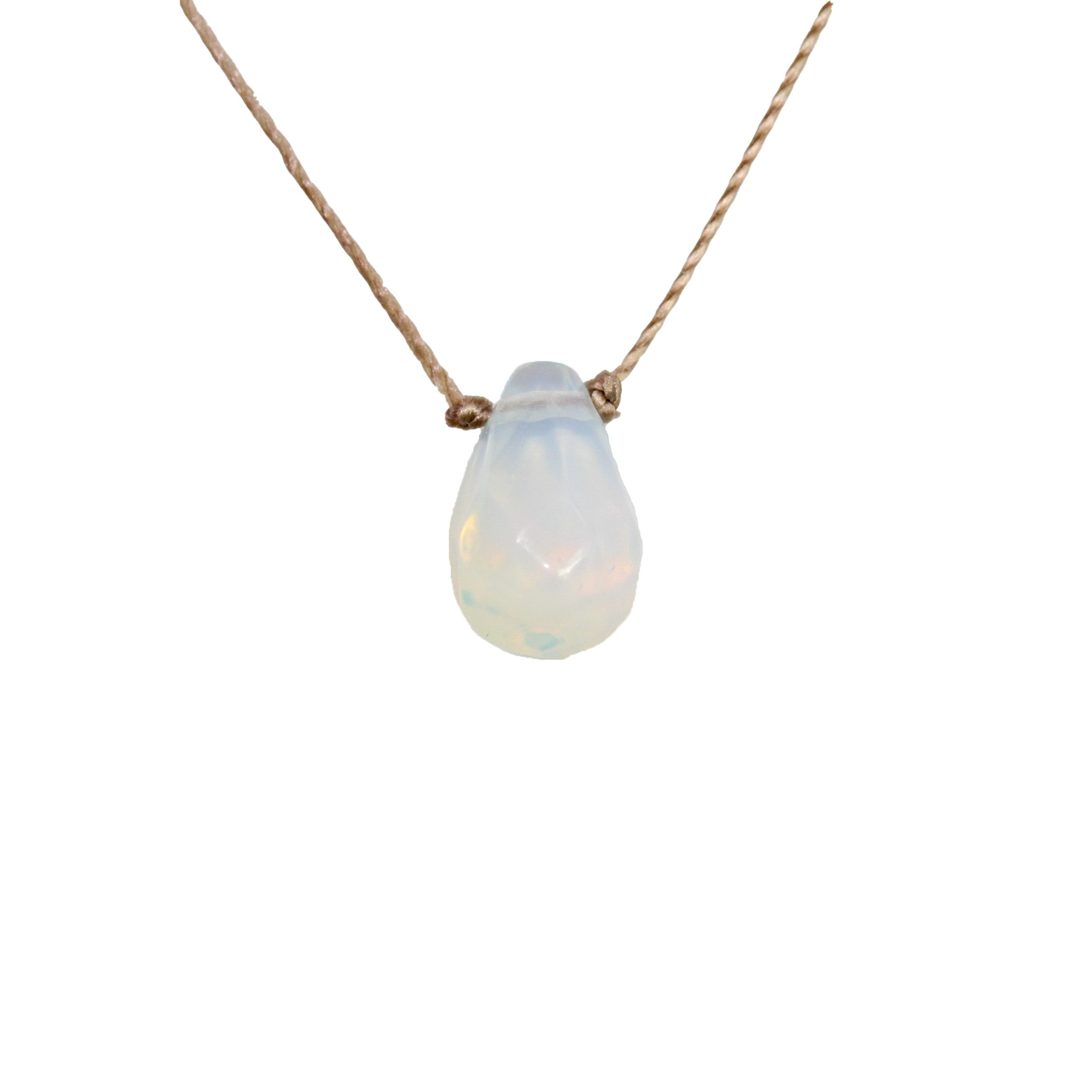 Necklace Opaline Sphere Necklace,Ball Necklace Simple Jewelry,Natural Stone,Moon Necklace,Positive Energy Ships Today!