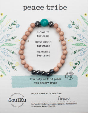 Howlite Bracelet for Peace Tribe