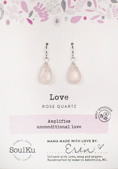 Rose Quartz Soul-Full of Light Earrings for Love