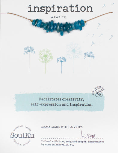 Apatite Gemstone SEED necklace for Inspiration