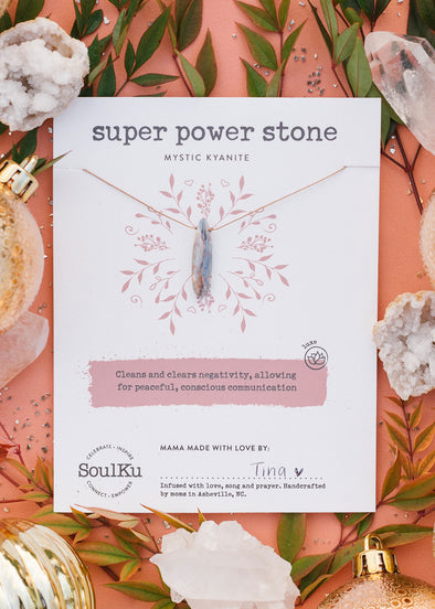 Super Power Stone Necklace in Mystic Kyanite
